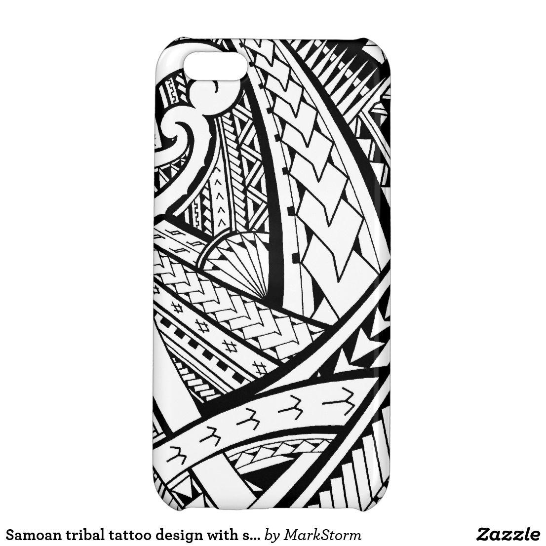 Samoan tribal tattoo design with spearheads iPhone 5C