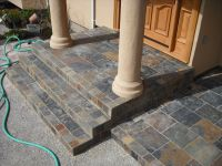 Slate Tiled Steps With Porch | Front porch steps, Porch ...