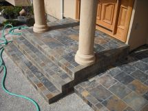 Slate Tiled Steps With Porch Front