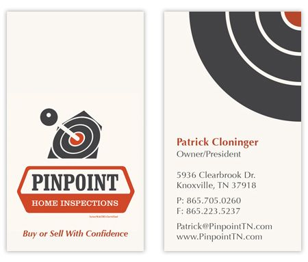 Business Card Inspector Business Card Design For Pinpoint Home