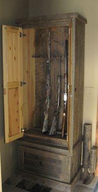 Custom Made Reclaimed Lumber Gun Cabinet | Create ...