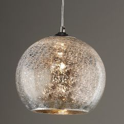 Light Pendants Kitchen Country Dining Tables Crackled Mercury Bowl Pendant Lighting