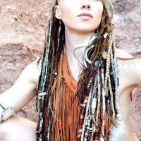 THUNDER  Tribal Native Hair Wraps  Removable Handmade ...