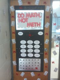 Decor Red Ribbon Week Door Decorating Ideas With Theme Red