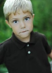 little boy with blonde hair