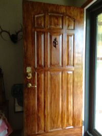 Gel stained white metal door with MINWAX GEL STAIN ...