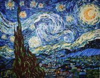 Mosaic. Interpretation of Vincent Van Gogh Starry Night