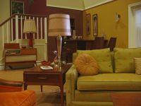 1960s sitcom living room.