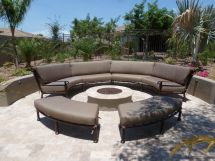 Custom Curved Outdoor Furniture Sectional. Sunbrella