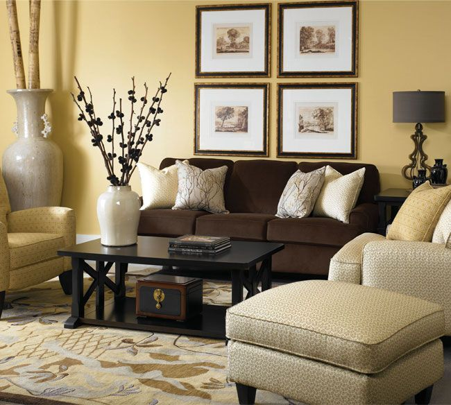 Lane campbell group blend of dark brown sofa with light tan colored chair blending pillows ideas for the house pinterest also rh