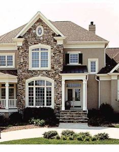 Beautiful home wrap around porch balcony stone everything  want on the exterior of my house also floor plans aflfpw story new american with bedrooms rh pinterest