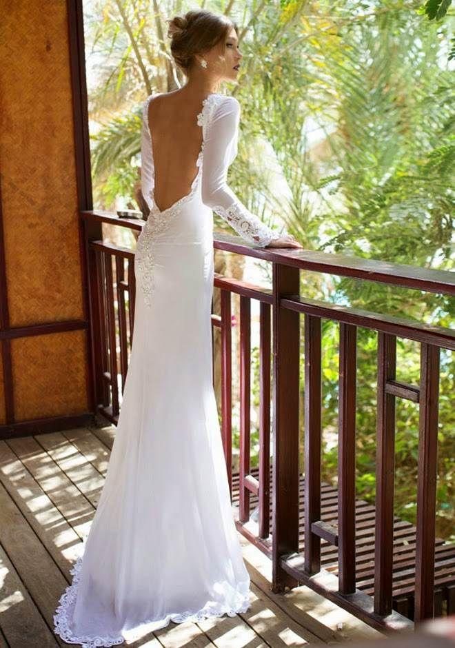 Spitze Brautkleid Rückenfrei Hochzeitskleider Pinterest