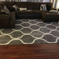 Sofa Rug Arrangement Western Leather Sectional Sofas Gray With Brown Home Pinterest