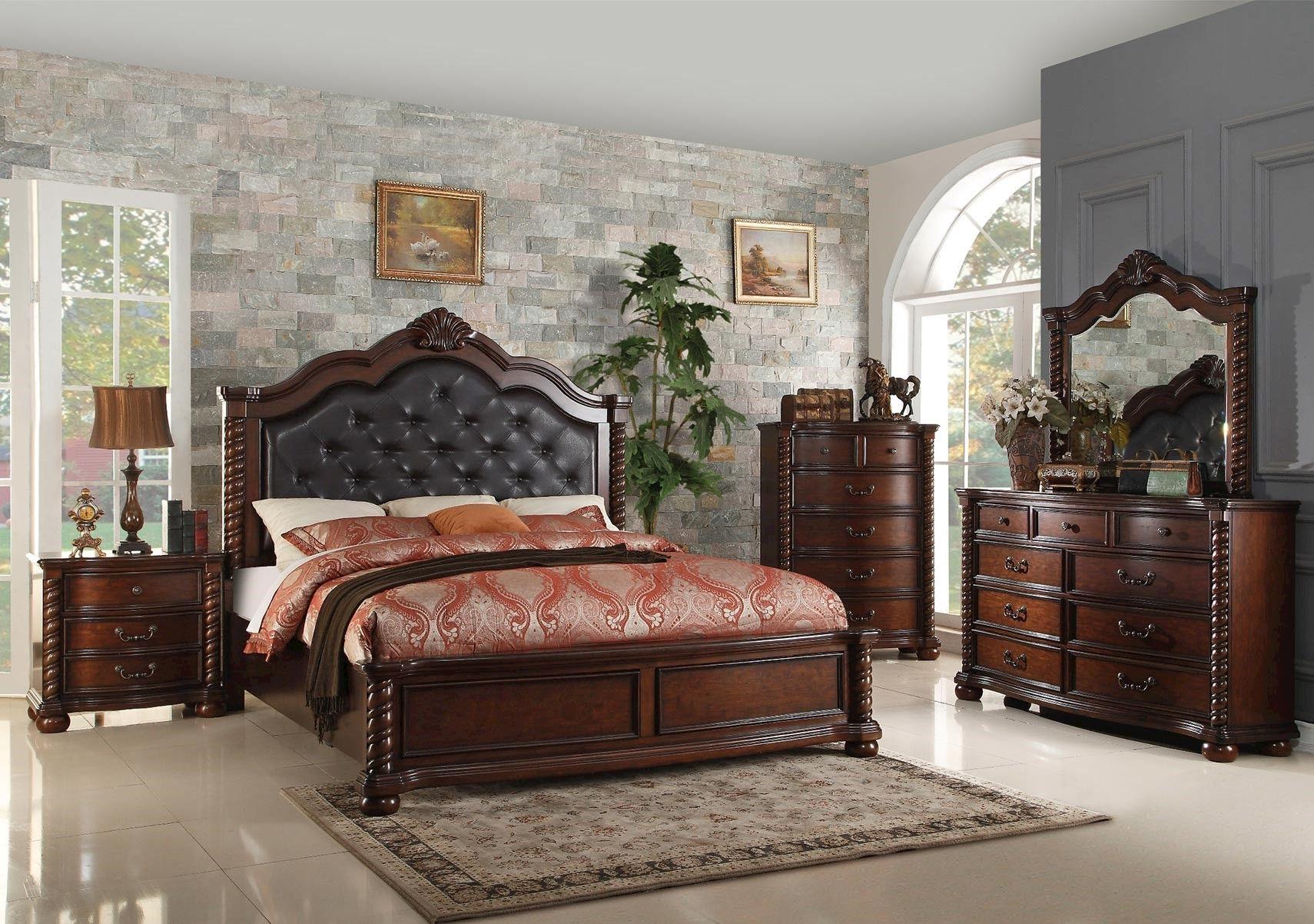 Lacks  Montarosa 4Pc Queen Bedroom Set  Old World