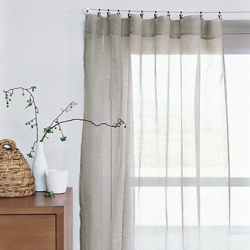 Sheer Linen Window Panels From West Elm Cabbages Sheer Curtains