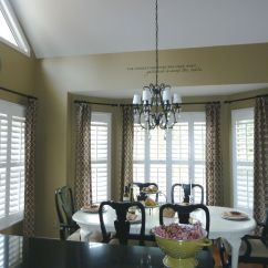 Window Treatments For Kitchens Kitchen Cabinet With Glass Doors Bay Plantation Shutters And Curtains