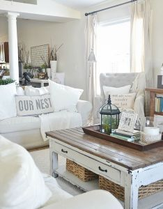 Cute white shabby chic coastal family room love this also best images about living ideas on pinterest rh