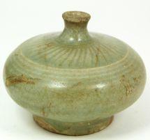 Koryo Dynasty Celadon Pottery Ointment Bottle - Antique