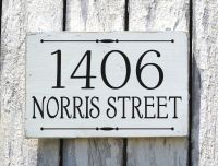Address Plaque Custom House Numbers Sign Personalized ...