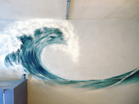 wave on a wall | Places + Spaces | Pinterest | Modern ...