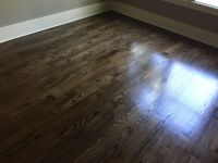 Newly sanded #2 Red Oak Hardwood Flooring. Minwax Espresso ...