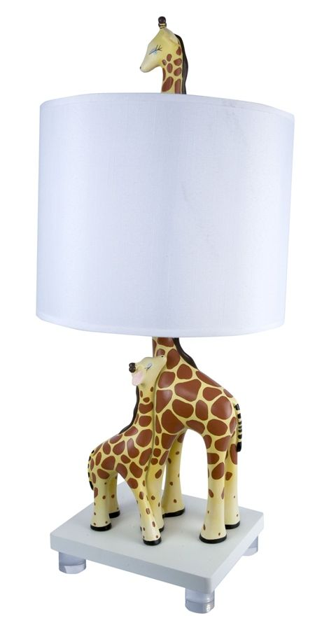Mother and Baby Giraffe Lamp