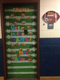 Classroom Door-football theme | Sports Team Classroom ...