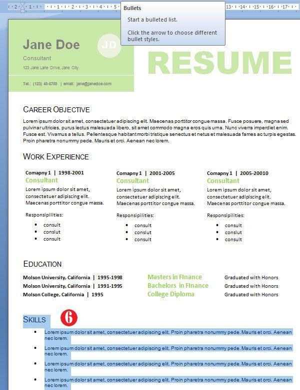 Design Resume Skills