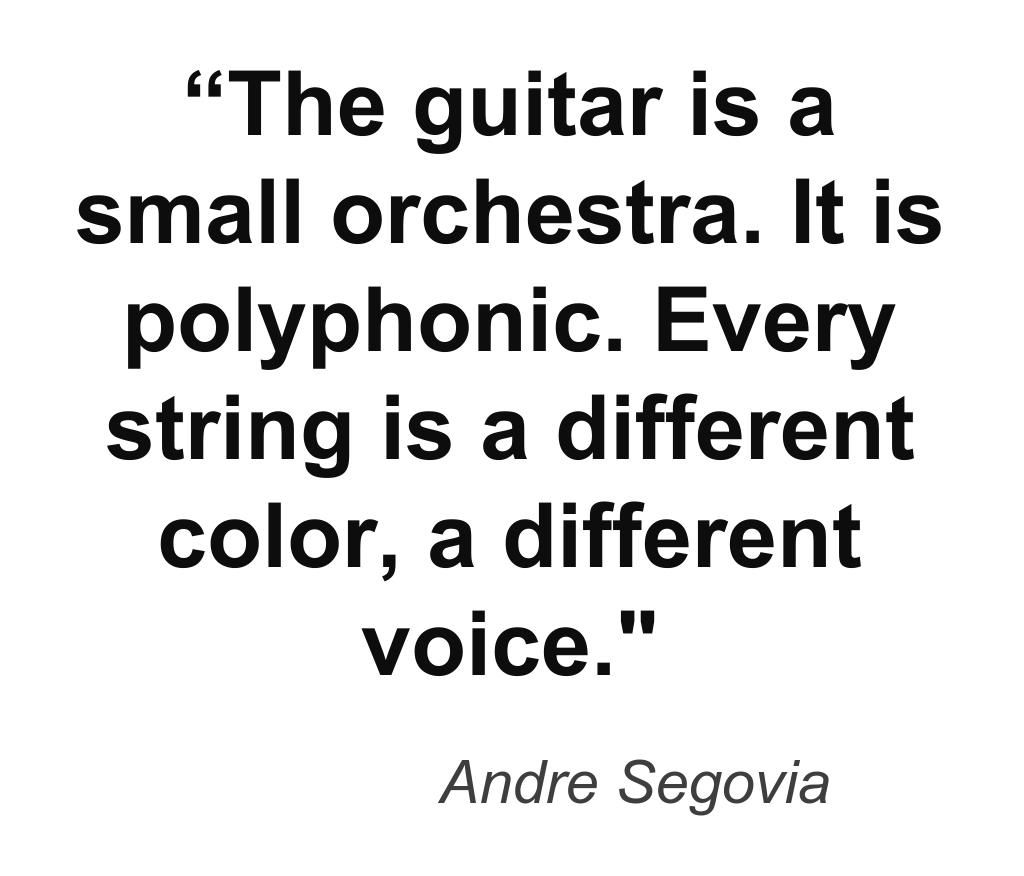 Music quote by guitarist Andre Segovia. #guitar #guitarist