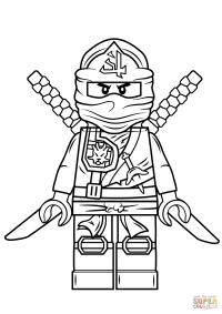 Lego Ninjago Green Ninja | Super Coloring | Kids stuff ...