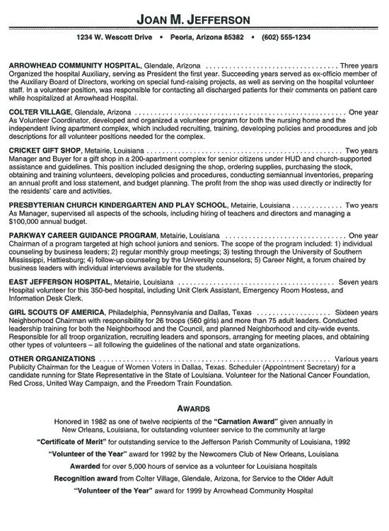 Hospital Volunteer Resume Example Latest Format Samples Experience