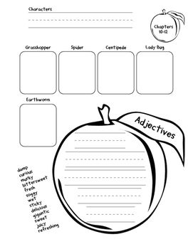 James and the Giant Peach Activity Packet (1st/2nd