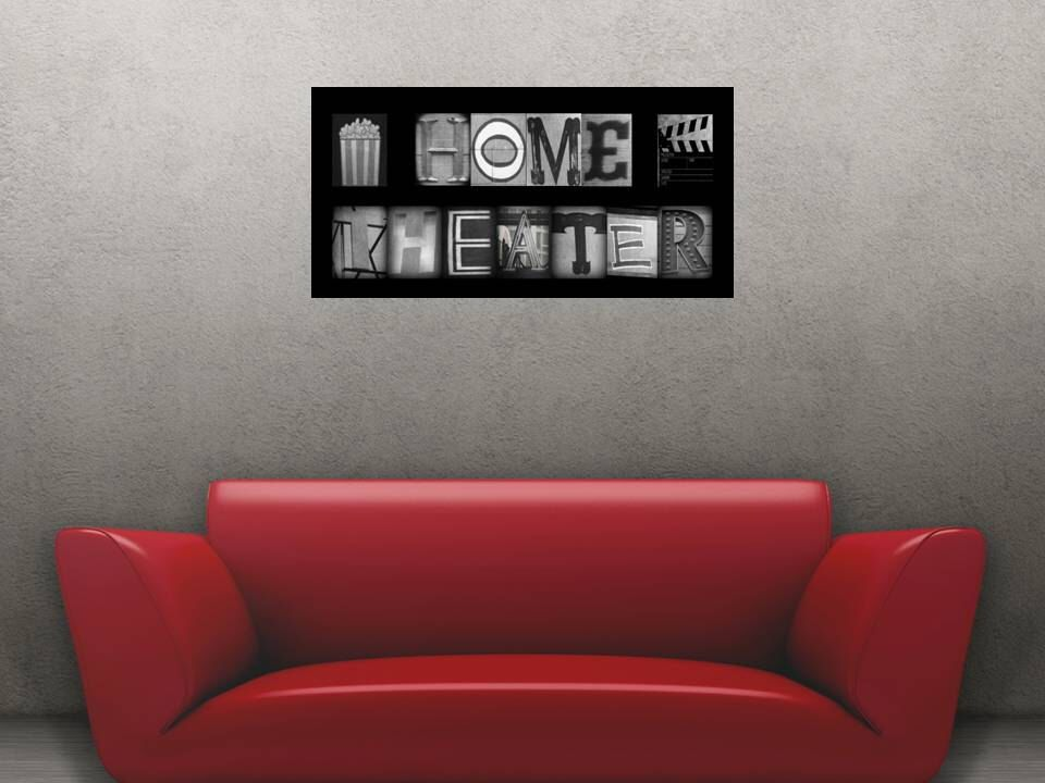 Items similar to home theater sign theatre room personalized decor movie canvas wrapped also  personal favorite from my etsy shop https listing rh pinterest