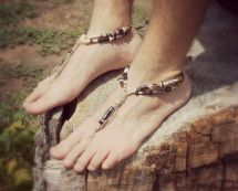 Barefoot Feet Shoes Sandals Men