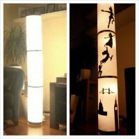 Ikea Vidja lamp. Upcycled using homemade Peter Pan and ...