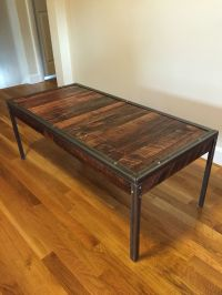 Mixed pallet wood with angle iron coffee table. Total cost ...