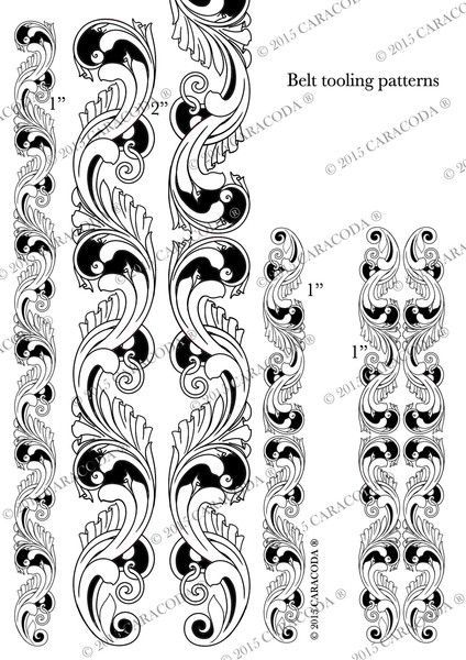 This is a free leathercraft tooling pattern which you can