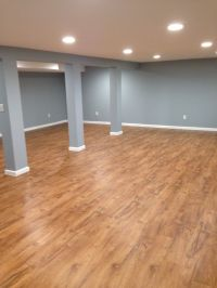 Our basement with Resort teak by shaw laminate flooring ...