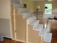 Stairway Remodel, Before & After | Stair railing, Drywall ...
