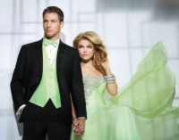 Mahatten Tuxedo Slim Fit with Mint Green Vest and Bow Tie ...