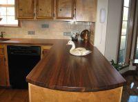 Granite Countertops Wonderful Rustic Dark Brown Walnut ...