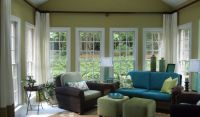 Sunroom makeover: On my list - love the higher curtain ...