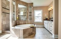 Sonoma A Owner's Bath with Walk-Through Shower | Home ...