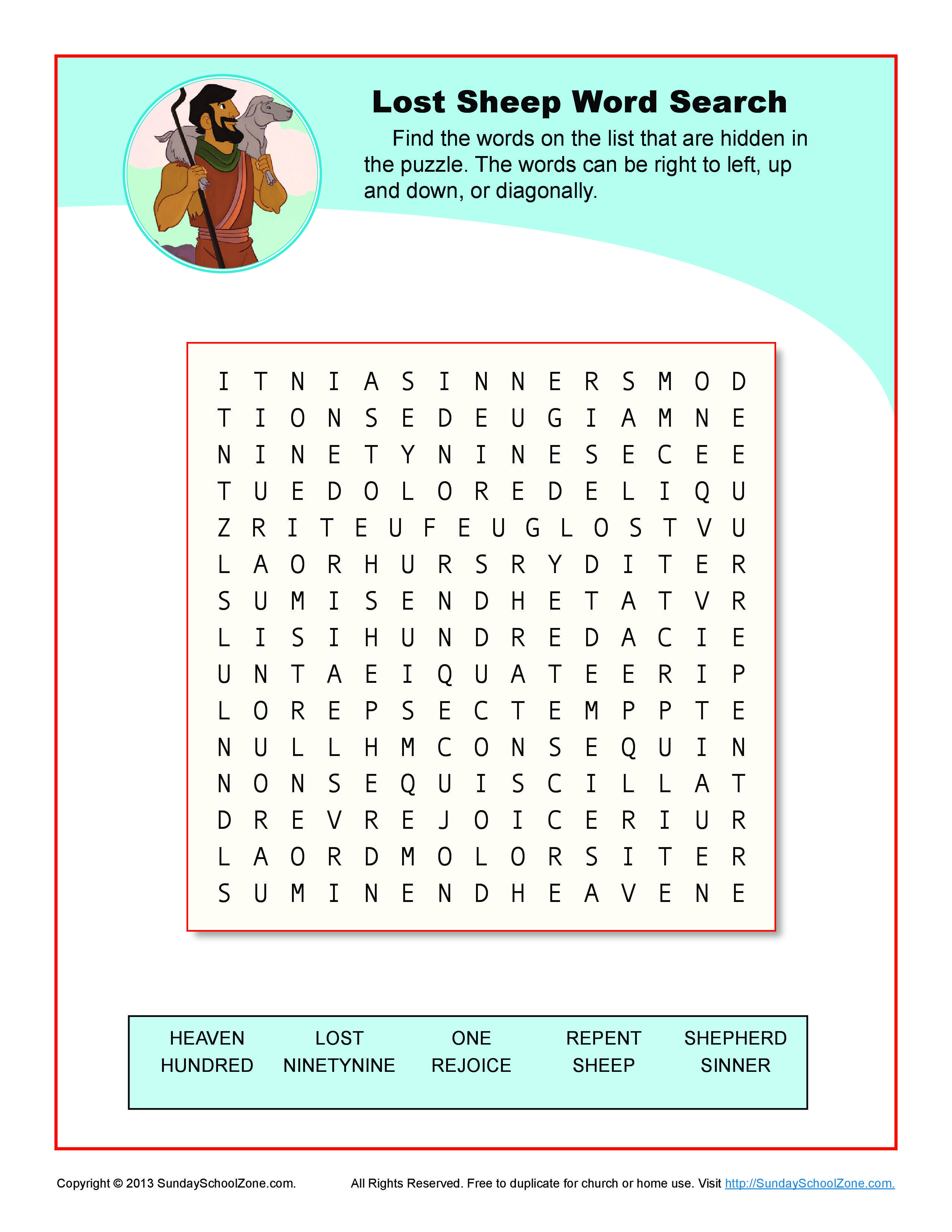 Children S Bible Word Search