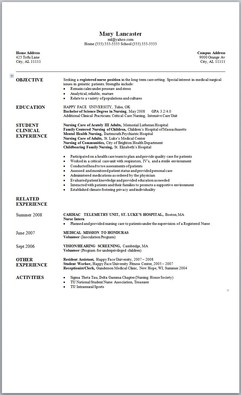 clinical nurse resume examples nursing resume builder