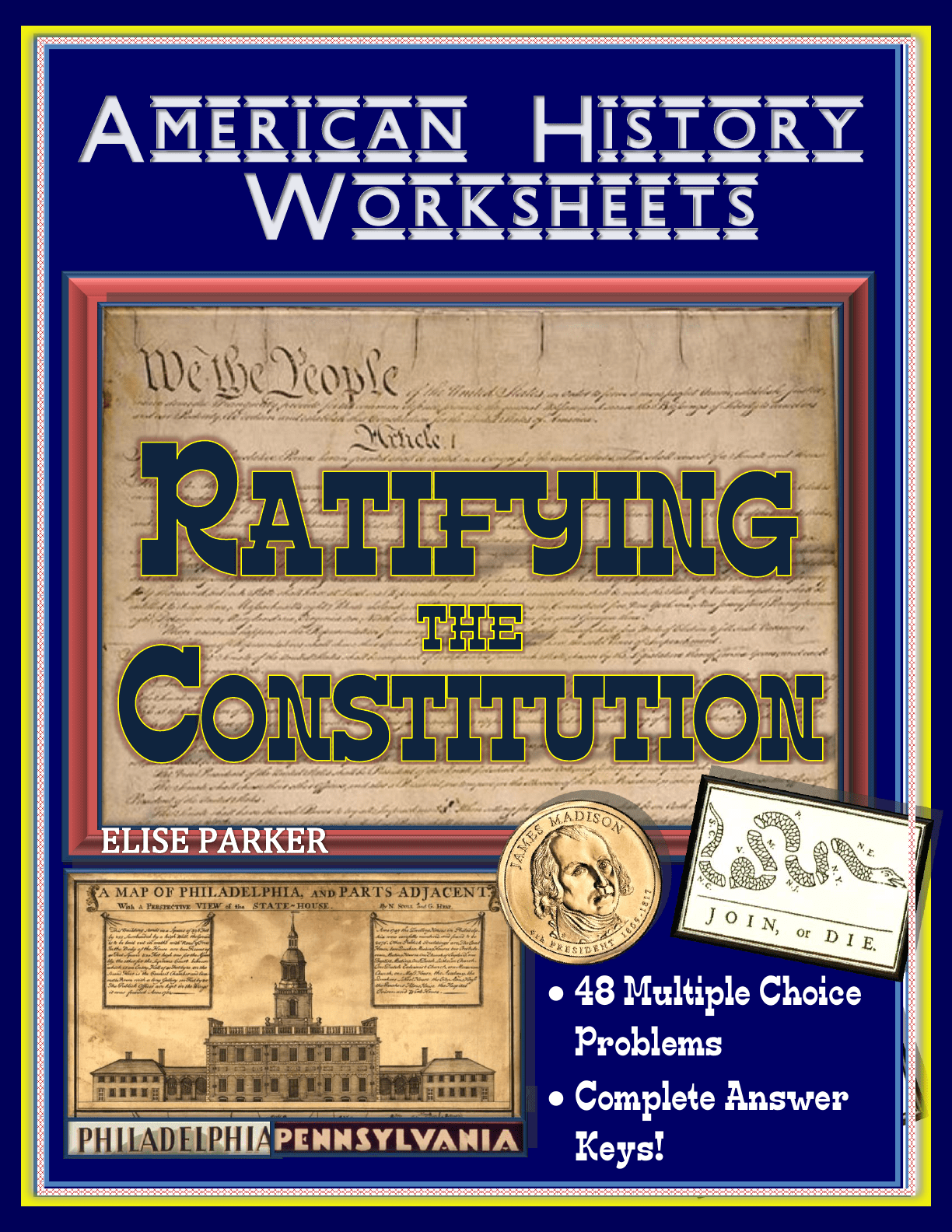 American History Worksheets Ratifying The Constitution