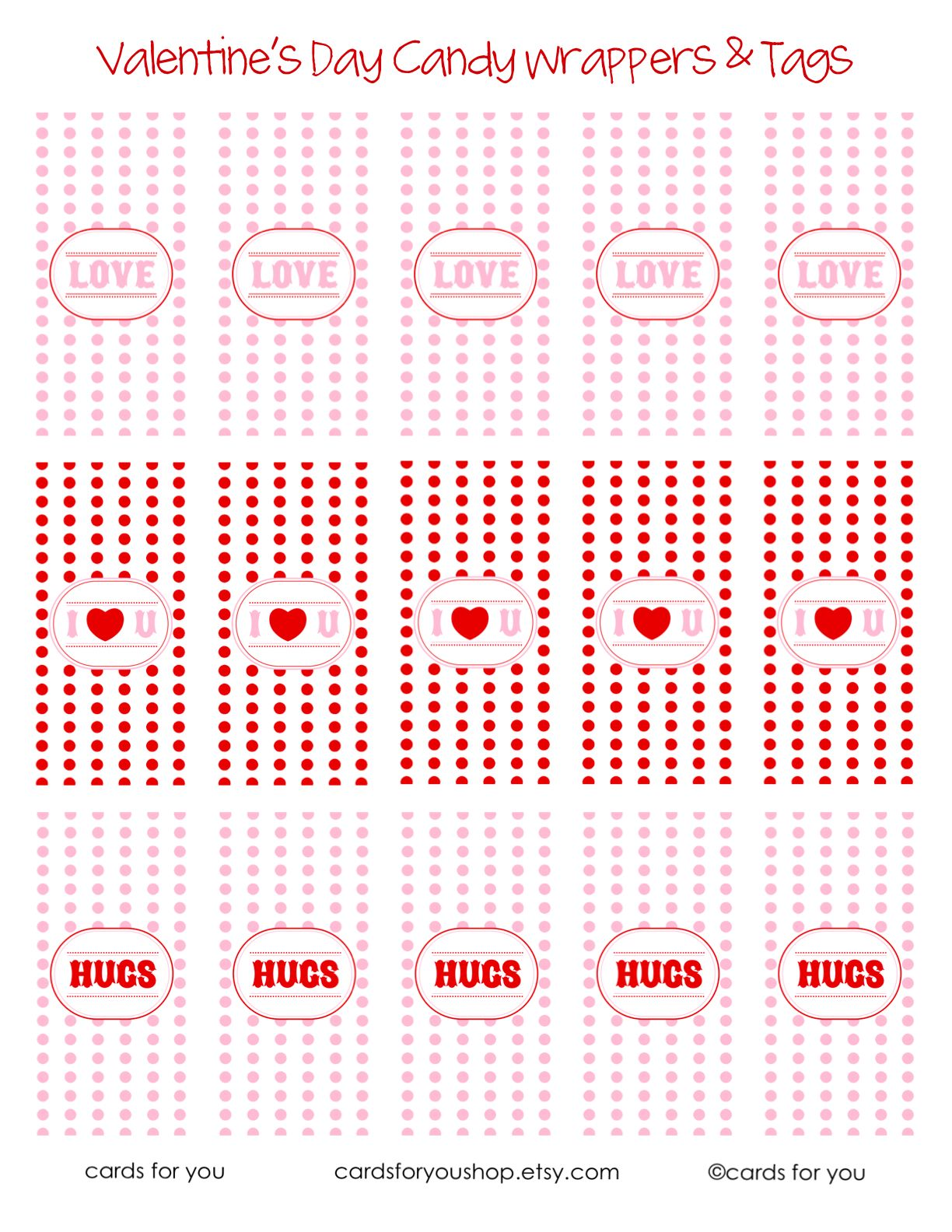 Free Printable Valentine Candy Wrappers Amp Tags By A Little Lovely