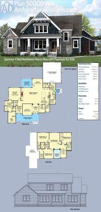 Plan 500009VV: Spacious Northwest House Plan with Playroom ...