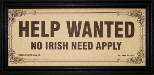 Image result for irish need apply image
