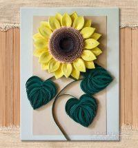 Original Paper Quilling Wall Art - The Sunflower. Handmade ...
